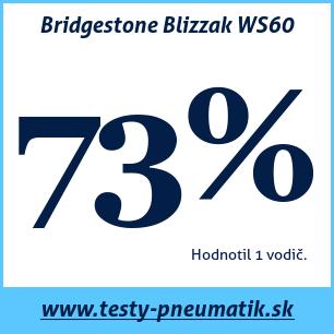 Test zimných pneumatík Bridgestone Blizzak WS60