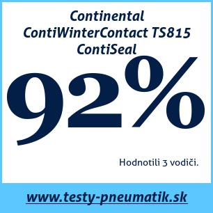 Test zimných pneumatík Continental ContiWinterContact TS815 ContiSeal