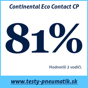 Test letných pneumatík Continental Eco Contact CP