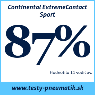 Test letných pneumatík Continental ExtremeContact Sport
