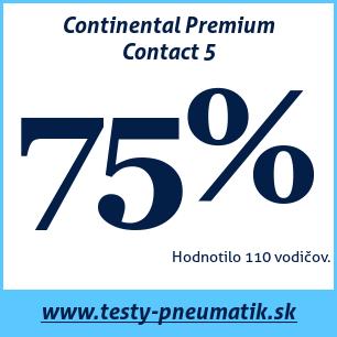 Test letných pneumatík Continental Premium Contact 5