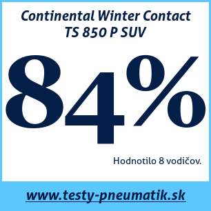 Test zimných pneumatík Continental Winter Contact TS 850 P SUV