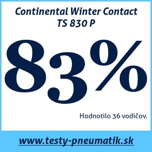 Test zimných pneumatík Continental Winter Contact TS 830 P