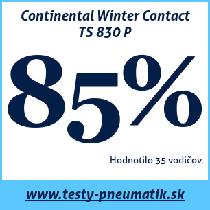Test zimných pneumatík Continental Winter Contact TS 830 P