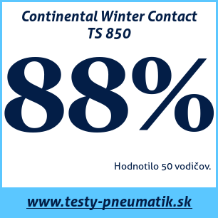 Test zimných pneumatík Continental Winter Contact TS 850