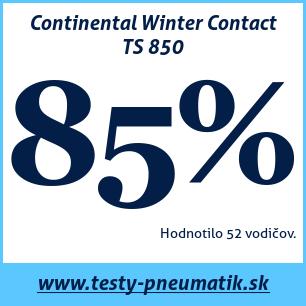 Test zimných pneumatík Continental Winter Contact TS 850