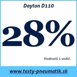 Test letných pneumatík Dayton D110