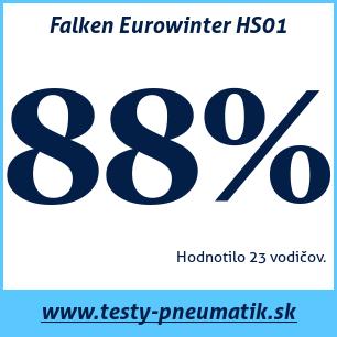 Test zimných pneumatík Falken Eurowinter HS01