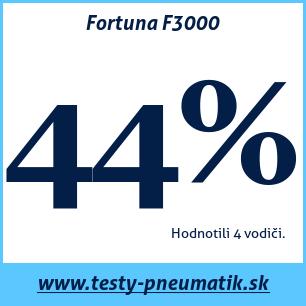 Test letných pneumatík Fortuna F3000