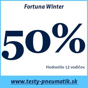 Test zimných pneumatík Fortuna Winter