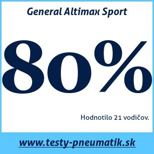 Test letných pneumatík General Altimax Sport