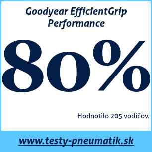Test letných pneumatík Goodyear EfficientGrip Performance