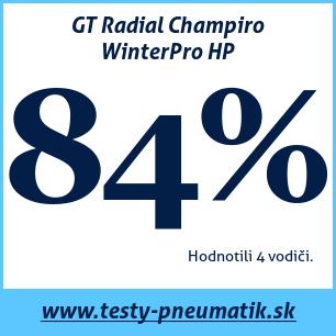 Test zimných pneumatík GT Radial Champiro WinterPro HP