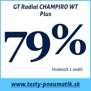 Test zimných pneumatík GT Radial CHAMPIRO WT Plus