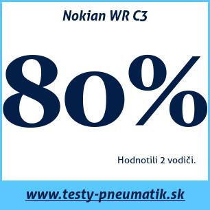 Test zimných pneumatík Nokian WR C3