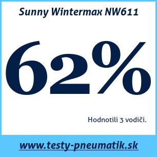 Test zimných pneumatík Sunny Wintermax NW611