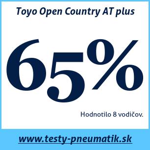 Test celoročných pneumatík Toyo Open Country AT plus