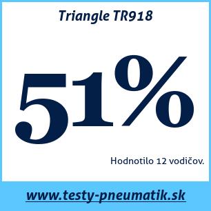 Test letných pneumatík Triangle TR918