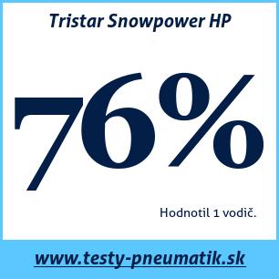 Test zimných pneumatík Tristar Snowpower HP