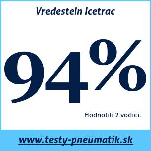 Test zimných pneumatík Vredestein Icetrac