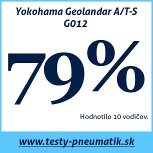 Test celoročných pneumatík Yokohama Geolandar A/T-S G012
