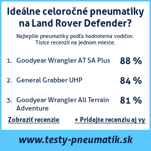 Test pneumatík na Land Rover Defender