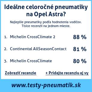 Test pneumatík na Opel Astra