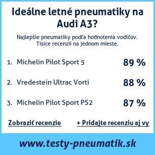 Test pneumatík na Audi A3
