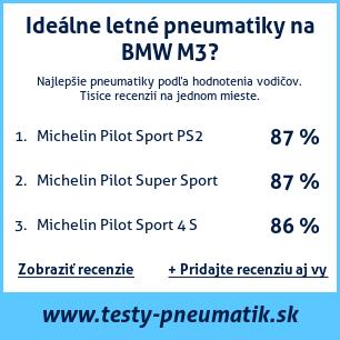 Test pneumatík na BMW M3