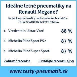 Test pneumatík na Renault Megane