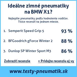 Test pneumatík na BMW X1