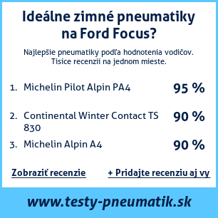 Test pneumatík na Ford Focus
