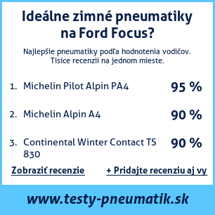 Test pneumatík na Ford Focus