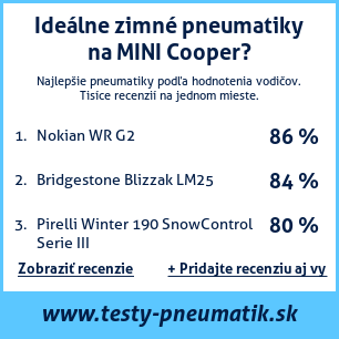 Test pneumatík na MINI Cooper