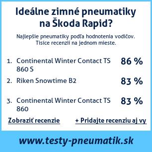 Test pneumatík na Škoda Rapid